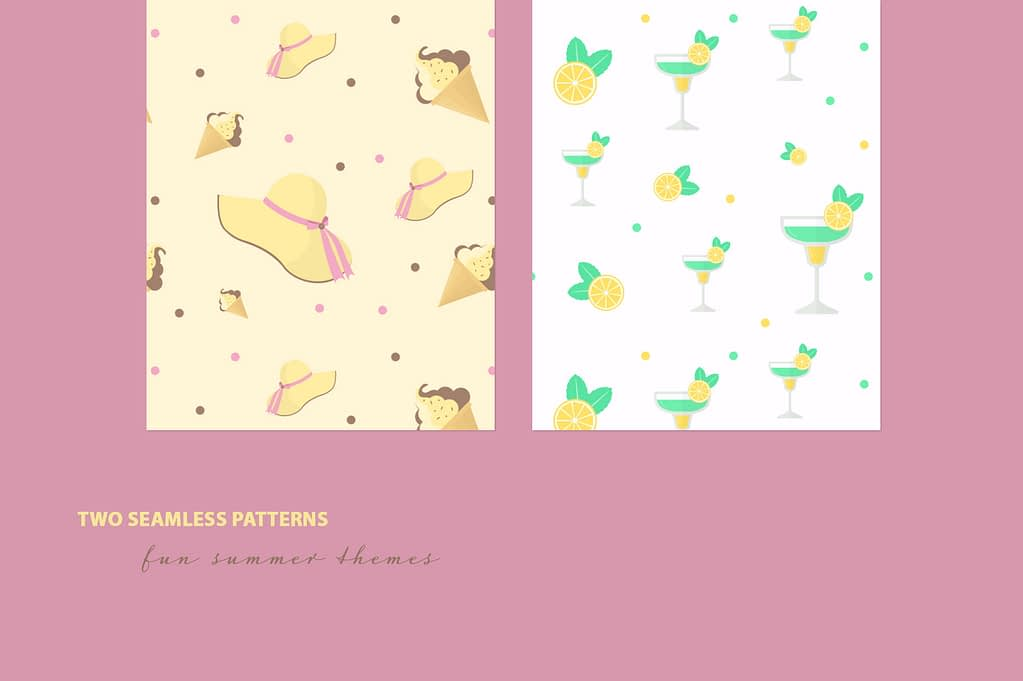 Summer Party Mini FREE seamless patterns