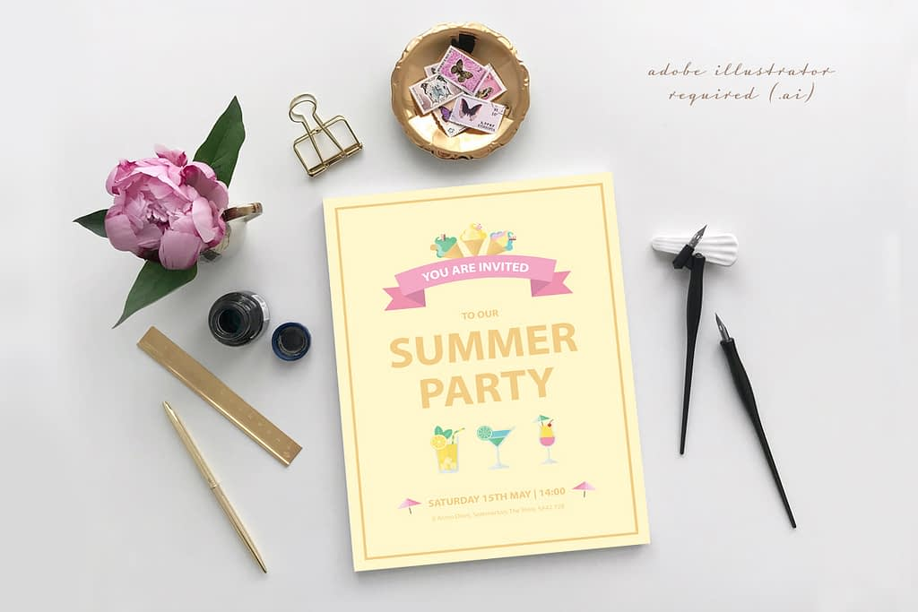 Summer Party Graphics Preview