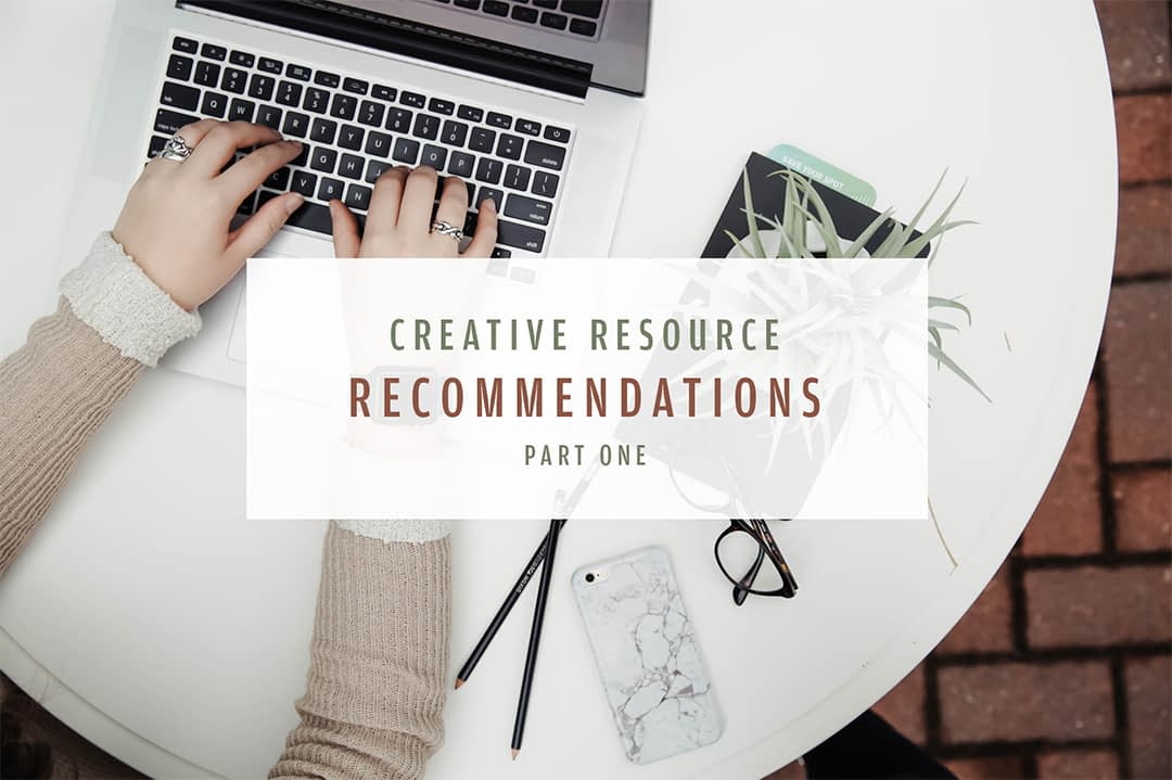 Creative resource recommendations part 1