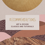 Art and Design Tutorial Recommendations
