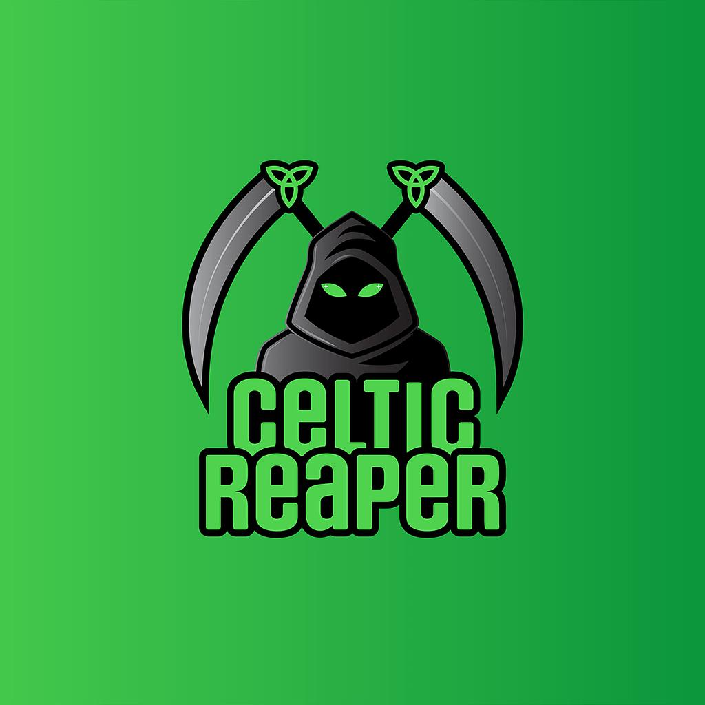 Celtic Reaper gaming logo design.