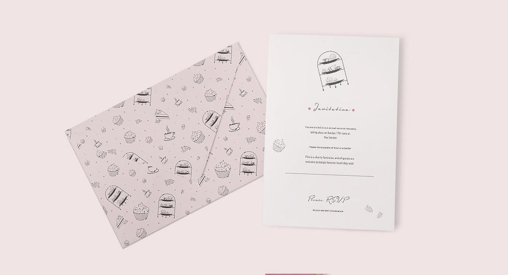 High Tea pattern invitation